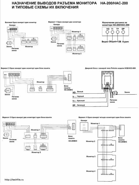 Видеодомофон evology js-238 схема